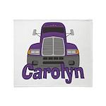 Trucker Carolyn Throw Blanket