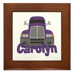 Trucker Carolyn Framed Tile