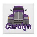 Trucker Carolyn Tile Coaster