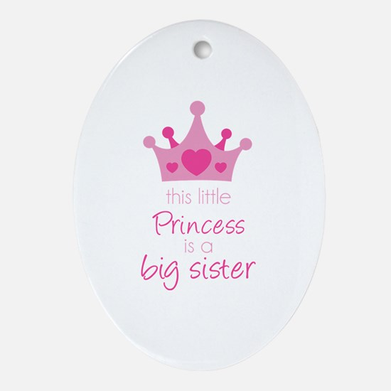 This little princess Ornament (Oval)
