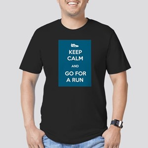 Keep Calm and Go For a Run Men's Fitted T-Shirt (d