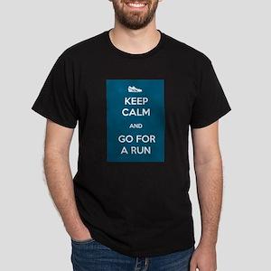 Keep Calm and Go For a Run Dark T-Shirt