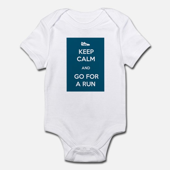 Keep Calm and Go For a Run Infant Bodysuit