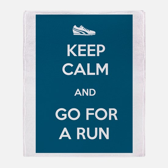 Keep Calm and Go For a Run Throw Blanket