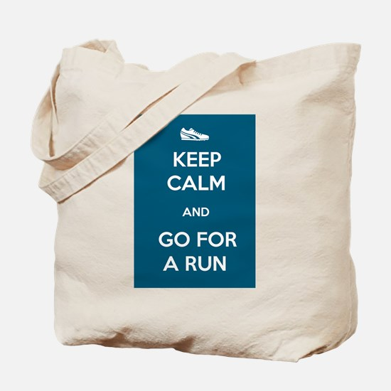 Keep Calm and Go For a Run Tote Bag