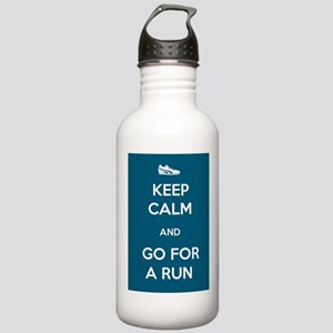 Keep Calm and Go For a Run Stainless Water Bottle