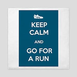 Keep Calm and Go For a Run Queen Duvet