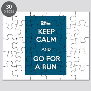 Keep Calm and Go For a Run Puzzle