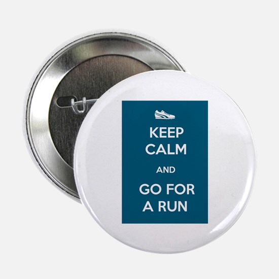 "Keep Calm and Go For a Run 2.25"" Button (100 pack)"