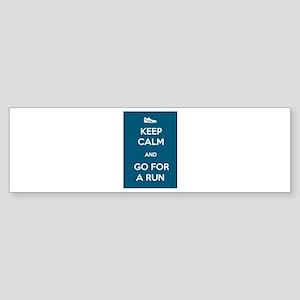 Keep Calm and Go For a Run Sticker (Bumper)