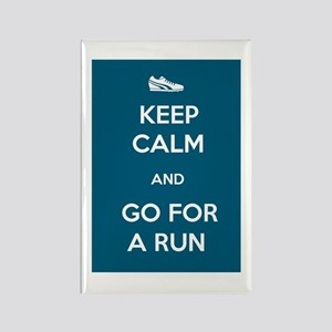 Keep Calm and Go For a Run Rectangle Magnet