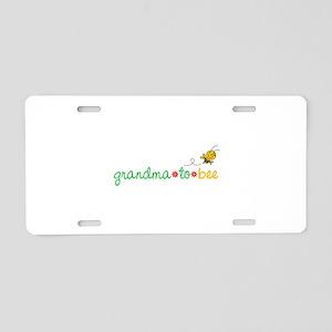 Grandma to bee Aluminum License Plate
