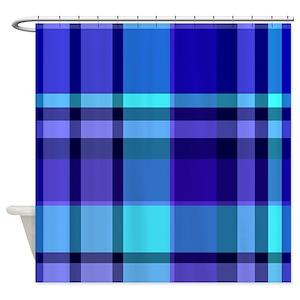 Purple Plaid Shower Curtains