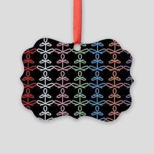 Yoga Glee Multi Color Picture Ornament