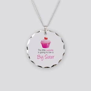This little sweetie Necklace Circle Charm