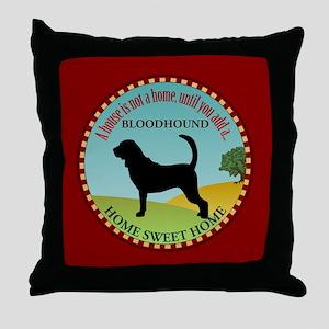 Bloodhound Throw Pillow