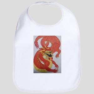 Chinese Dragon Cotton Baby Bib