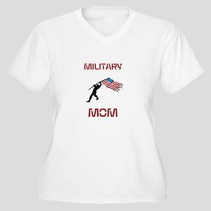 Military MOM Women's Plus Size V-Neck T-Shirt