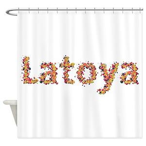 Female Name Latoya Shower Curtains