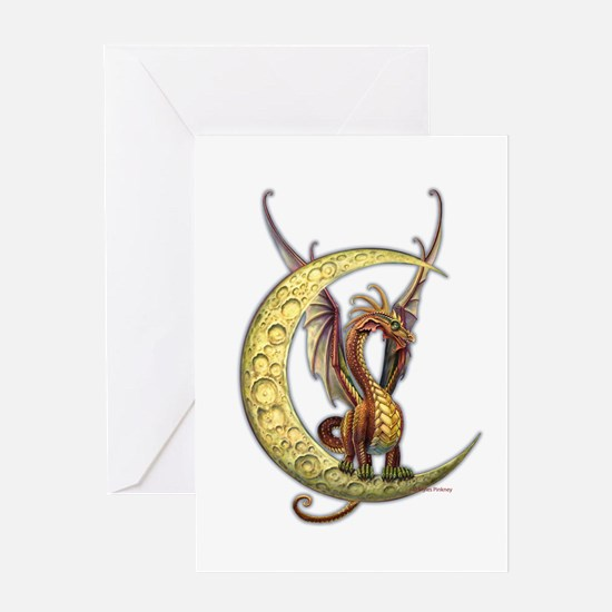 Moon Dragon Greeting Card