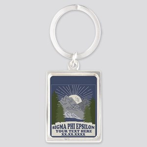 Sigma Phi Epsilon Mountains Portrait Keychain