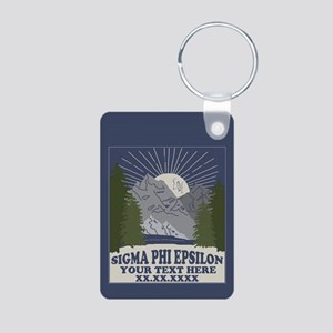 Sigma Phi Epsilon Mountain Aluminum Photo Keychain