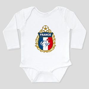 France Long Sleeve Infant Bodysuit