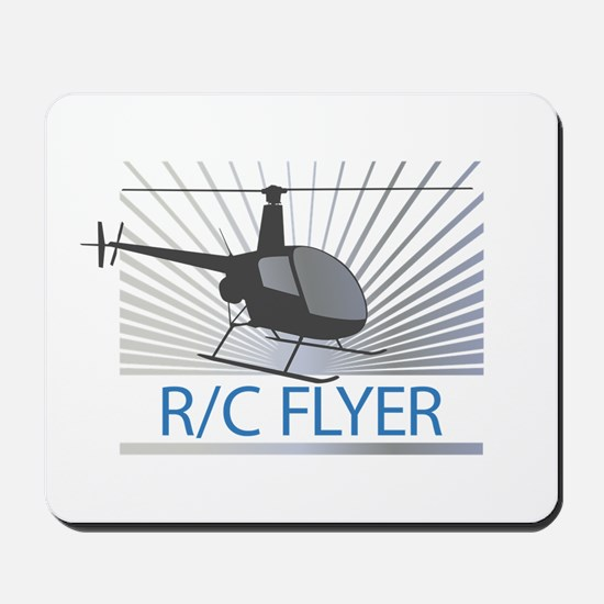 Radio Control Flyer Helicopter Mousepad