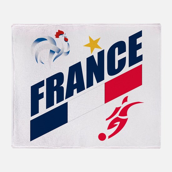 France World Cup Soccer Throw Blanket
