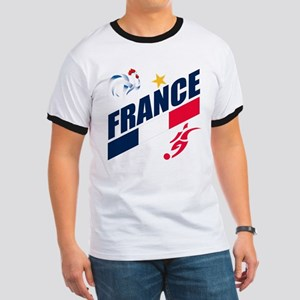 France World Cup Soccer Ringer T