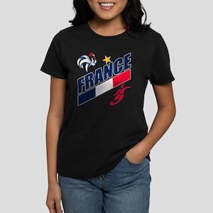 France World Cup Soccer Women's Dark T-Shirt