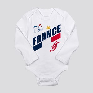 France World Cup Soccer Long Sleeve Infant Bodysui