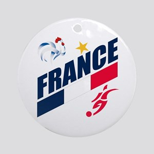 France World Cup Soccer Ornament (Round)