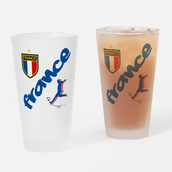 France World Cup Soccer Drinking Glass