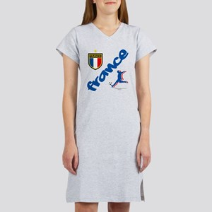 France World Cup Soccer Women's Nightshirt