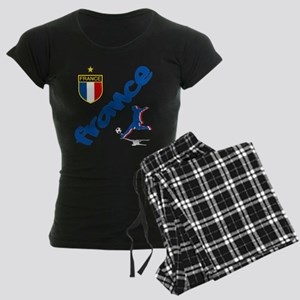 France World Cup Soccer Women's Dark Pajamas