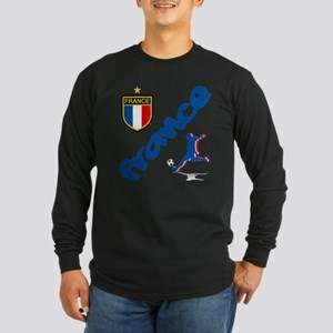 France World Cup Soccer Long Sleeve Dark T-Shirt