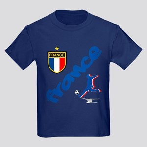 France World Cup Soccer Kids Dark T-Shirt