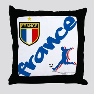 France World Cup Soccer Throw Pillow