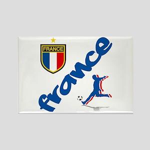 France World Cup Soccer Rectangle Magnet