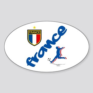 France World Cup Soccer Sticker (Oval)