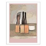 wine and Cheese Still Life Small Poster