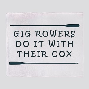GIg Rowers Do It Throw Blanket