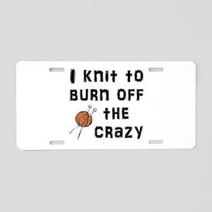 Crazy Knit Aluminum License Plate