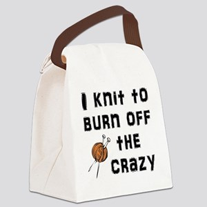 Crazy Knit Canvas Lunch Bag
