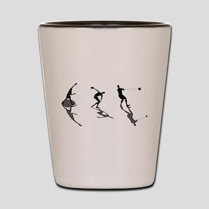 Athletics Field Events Shot Glass