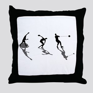 Athletics Field Events Throw Pillow