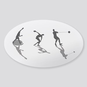 Athletics Field Events Sticker (Oval)