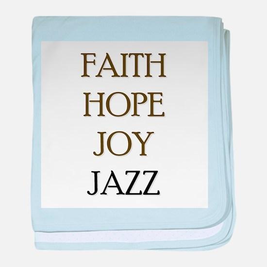 FAITH HOPE JOY JAZZ baby blanket
