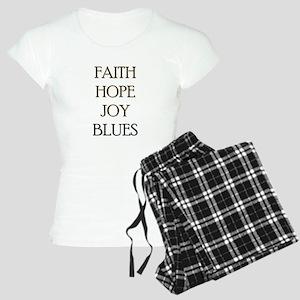 FAITH HOPE JOY BLUES Women's Light Pajamas